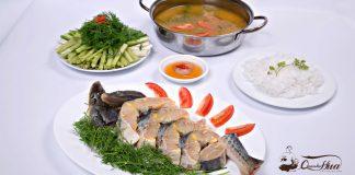 cá tầm nấu lẩu chua